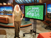 Lauren on set of KENS5 Great Day SA -- Oct 14 2010