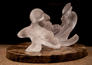 Hidden Springs Mermaid - acrylic cast of the limestone Mermaid sculpture