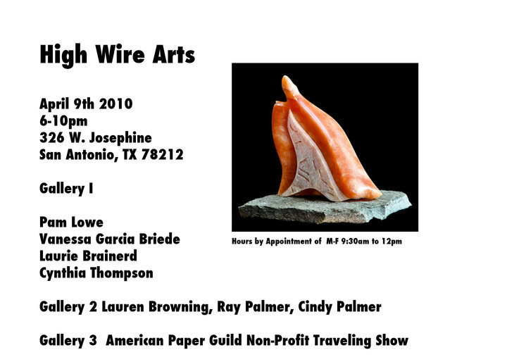 High Wire Arts invitation -- April 2010