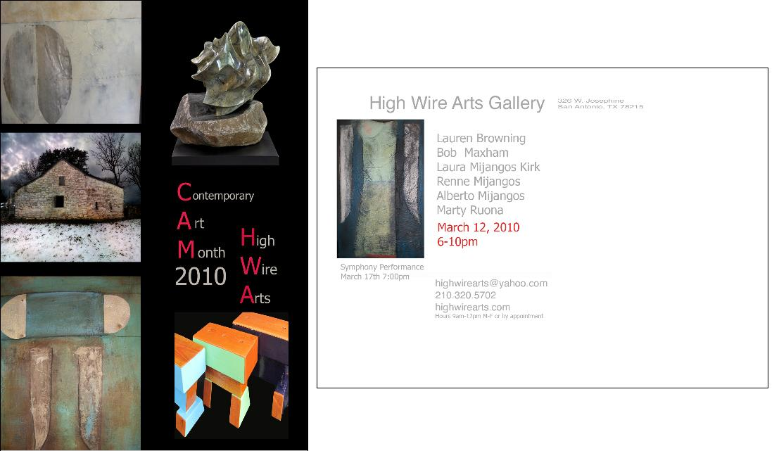 High Wire Arts invitation - March