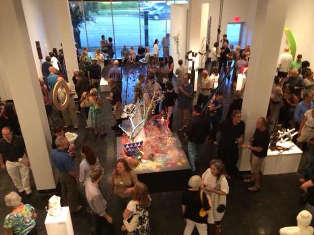 opening reception at Lawndale Art Center