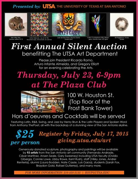 UTSA Silent Art Auction, July 23 2015