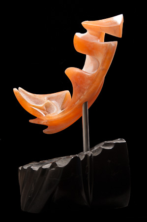 Beneath the Midnight Sun - Utah Alabaster, Aluminum, Serpentinite